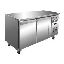 Husky 2 Door Commercial Food Preparation Bar Fridge