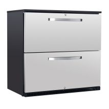 Husky 2 Drawer Commercial Food Service Under Counter Bar Fridge