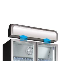 Husky 2 Glass Door Commercial Bar Fridge Lightbox Is removable