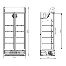 Husky 2 Glass Door Commercial Bar Fridge Schematic