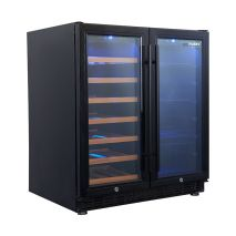 Husky Vino Pro Beer And Wine Fridge HUS-WC66B-BK-ZY