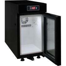 Mini Milk Fridge Triple Glazed LOW E Glass Prevents Condensation