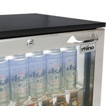 Rhino Below Zero 1 Door Heated Glass Door Bar Fridge - Simple Finger Grip Handle