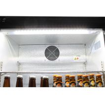 Rhino Below Zero 1 Door Heated Glass Door Bar Fridge - Strong Inner Fan For Even Air Distribution Throughout