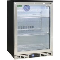 Rhino Below Zero 1 Door Heated Glass Door Bar Fridge - Lock With Easy Access