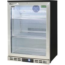 Rhino Below Zero 1 Door Heated Glass Door Bar Fridge - Cold Beer