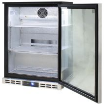 Rhino Below Zero 1 Door Heated Glass Door Bar Fridge - Self Closing Door, Adjustable Shelves