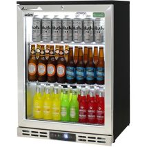 Rhino 1 Door Below Zero Heated Glass Door Bar Fridge - Brand Parts - Coldest Beer / Drinks Available