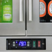 Heated 3 Door Alfresco Fridge Rhino Long Bar Handle, Light And Power Switches Easily Accessible