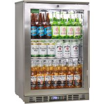 Rhino 1 Door Heated Glass Door Bar Fridge - See Wine Shelving In This Pic