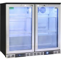 Rhino 2 Door Twin Zone Below Zero Fridge And Glass Froster - Independent Temperature Zones