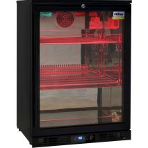 Rhino Nightclub Pub Bar Fridge With Multi LED Light Options -  Red Led Choice