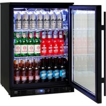Rhino Nightclub Pub Bar Fridge With Multi LED Light Options - Self Closing Lockable Doors With Triple Glazed LOW E Glass To Prevent Condensation
