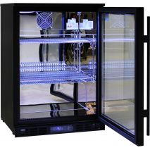 Rhino Nightclub Pub Bar Fridge With Multi LED Light Options -  Polished 304 S/Steel Interior
