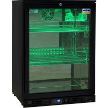 Rhino Nightclub Pub Bar Fridge With Multi LED Light Options - Green LED option