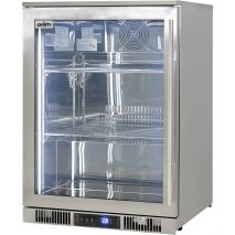 Rhino Envy 1 Door Alfresco Bar Fridge - Choose From Blue Or White LED, Switch On Front