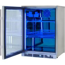 Rhino Envy 1 Door Alfresco Bar Fridge - Mirror Finish Polished Stainless Inner