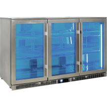 Rhino Envy 3 Door Bar Fridge - Switchable Led Light That Can Be Switched Between Blue Or White