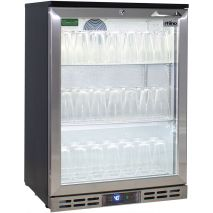 Rhino Below Zero 1 Door Heated Glass Door Bar Fridge - Use As Glass Froster, Can Be Set -12oC