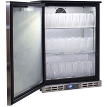 Rhino Glass Froster 1 Door Heated Glass Door Bar Fridge - Strong HD No Topple Shelves