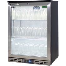 Rhino Below Zero 1 Door Heated Glass Door Bar Fridge - Can Set To -12oC For Glass Frosting