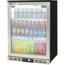 Rhino Glass Froster 1 Door Heated Glass Door Bar Fridge - Self Closing Door, Adjustable Shelves