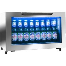 Rhino Commercial Low Bar Fridge - Cool White Led Looks Great, The Stay-Clean Condensor Cuts Maintenance To A Minimum