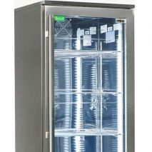 Rhino Commercial Upright 1 Door Pub Beer Bar Fridge - Fully Adjustable Shelving And Polished Stainless Interior