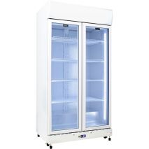 Schmick Upright 2 Door Commercial Glass Front Bar Fridge