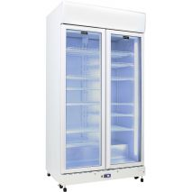 Schmick 2 Glass Door Commercial Bar Fridge Showing 12 Shelves - Add Shelves (see to right), unit supplied with 8.