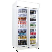 Schmick 2 Glass Door Commercial Bar Fridge Showing 12 Shelves - Extra Shelves When You Have Smaller Drinks, unit supplied with 12