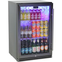 Schmick Black Stainless Steel Outdoor Refrigerator - The Special Coating Prevents Fingerprints