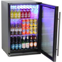 Schmick Black Stainless Steel Outdoor Refrigerator - Plenty Of Inner Height To Fully Load Up