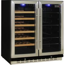 Schmick Dual Zone Under Bench Beer And Wine Fridge - Soft Blue Led Lighting