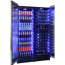 Schmick Upright Beer And Dual Wine Fridge - Triple Glazed Low E Glass To Prevent Condensation Forming On Glass