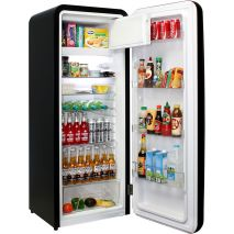 Retro Black Bar Fridge - Proper Freezer, Not A Ice Cube Storage Type