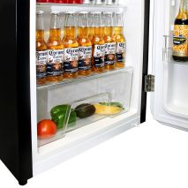 Retro Black Bar Fridge - Crisper for Fruit n Veg