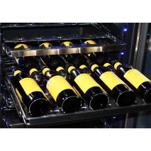 Schmick Upright Wine Fridge - Sliding Ballbearing Shelving With S/S Trims And Unique 'Soft' Rubber Moveable Saddles