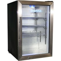 Schmick Tropical Glass Door Bar Fridge 68 Litre Model EC68-SSH angle