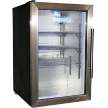 Schmick Tropical Glass Door Bar Fridge 68Litre Model EC68L-SSH Angle
