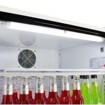 Schmick 1 Glass Door Commercial Bar Fridge - Led Roof Light