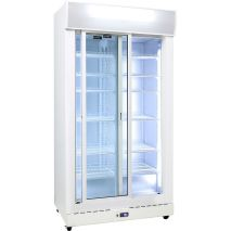 Schmick 2 Glass Door Commercial Bar Fridge - Self Closing Sliding Doors