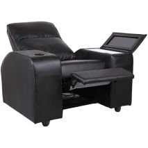 Black Trim Recliner Chair With Bar Fridge