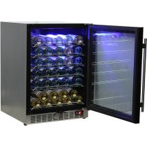 Under Bench Glass Door Wine Fridge Has Excellent Shelving
