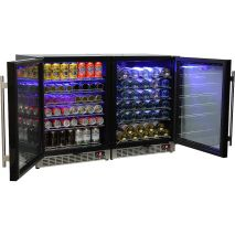 Schmick Beer And Wine Matching Indoor Quiet Running Fridge Combination Model YC151G-Combo Open