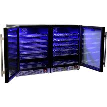 Schmick Beer And Wine Matching Indoor Quiet Running Fridge Combination Model YC151G-Combo - Front Venting For Under Bench Installation