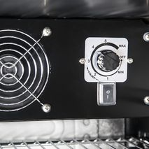 Interior Has All The Controls For Easy Access, The Inner Fan Means Even Temperature Throughout