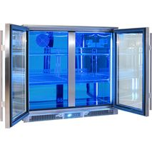 Rhino Envy 2 Door Bar Fridge - Unique Switchable LED From White To Blue (You Can Choose)