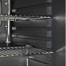 Retro Black Bar Fridge BC70 - Chromed Shelving