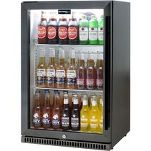 Schmick Black Stainless Steel Alfresco Drinks Fridge SK118L-BS